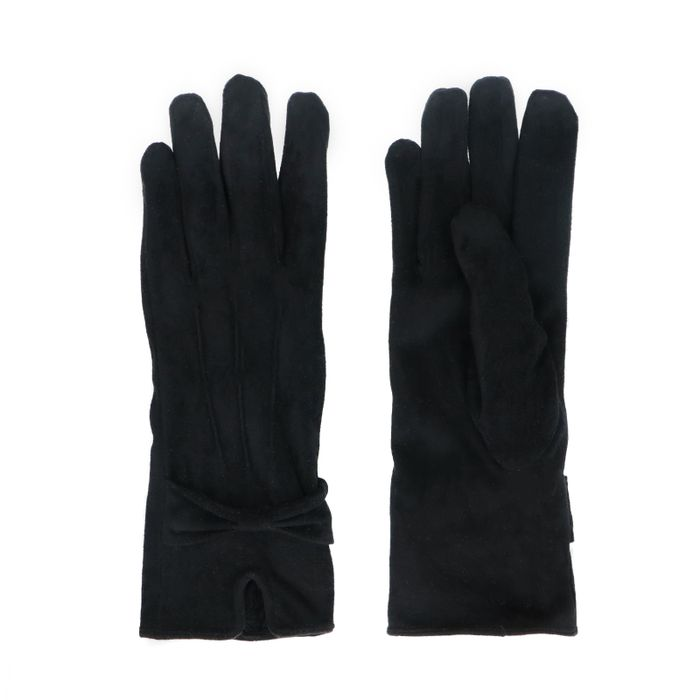Gants avec nœud - noir
