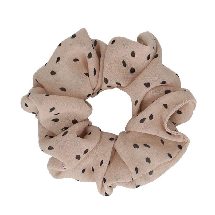 Rosafarbener Scrunchie mit Punkten