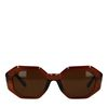 Asymmetrische braune Sonnenbrille