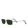 Eckige Retro-Brille mit grünen Gläsern