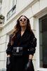 Sacha x Luxblog Schwarze Kunstleder-Handschuhe mit sporty Stripe