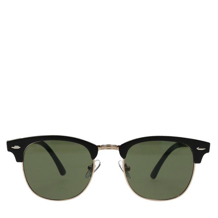Schwarze Sonnenbrille mit grünen Gläsern