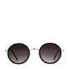 Runde schwarze Retro-Sonnenbrille