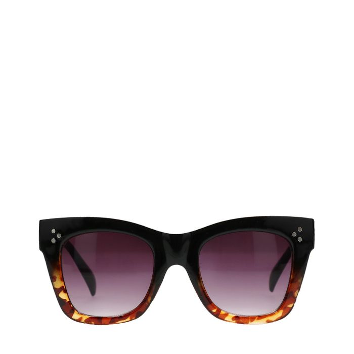 Braune Statement-Sonnenbrille