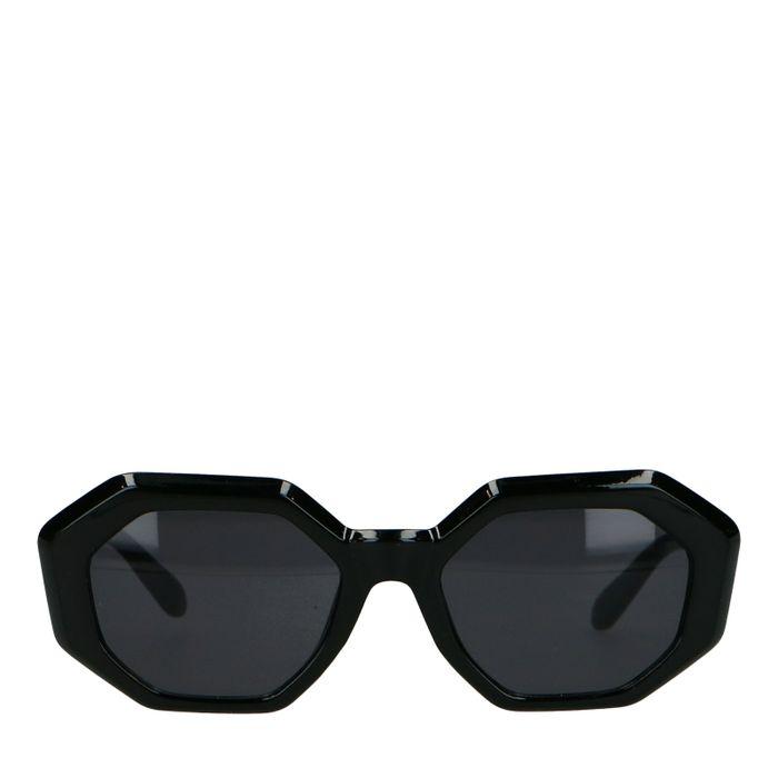 Asymmetrische schwarze Sonnenbrille