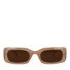 Eckige beigefarbene Sonnenbrille