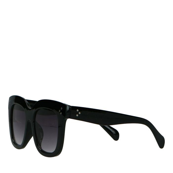 Schwarze Statement-Sonnenbrille