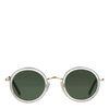 Runde weiße Retro-Sonnenbrille
