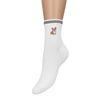 Weiße Socken mit Corgi-Print