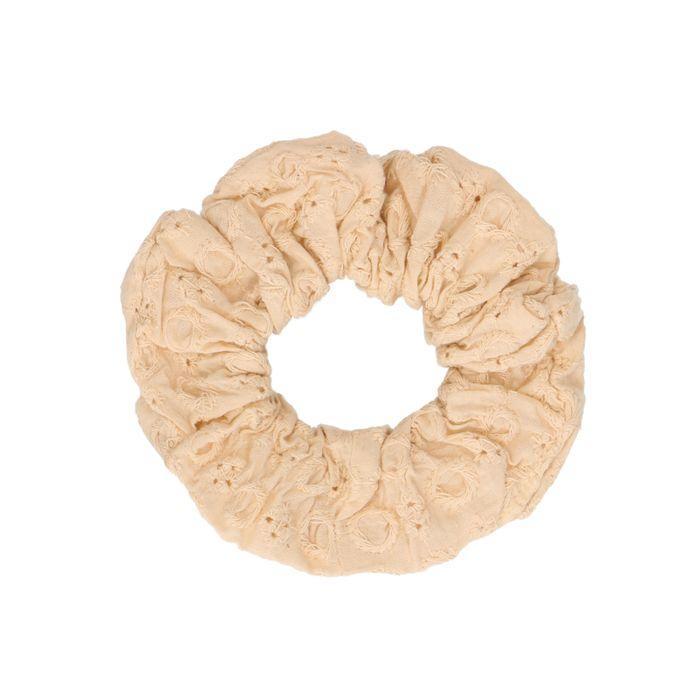 Chouchou avec imprimé - beige