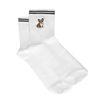 Chaussettes avec petit chien Corgi - blanc