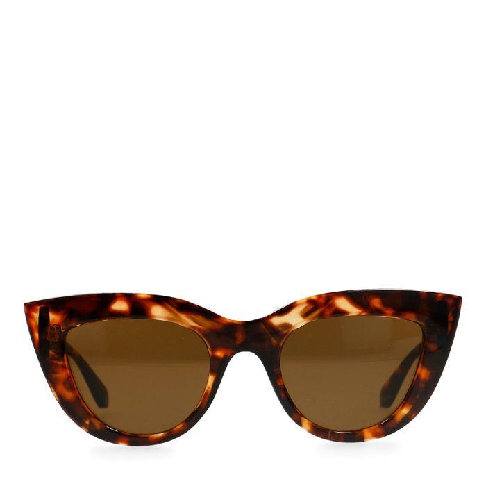 Lunettes de soleil œil de chat - marron