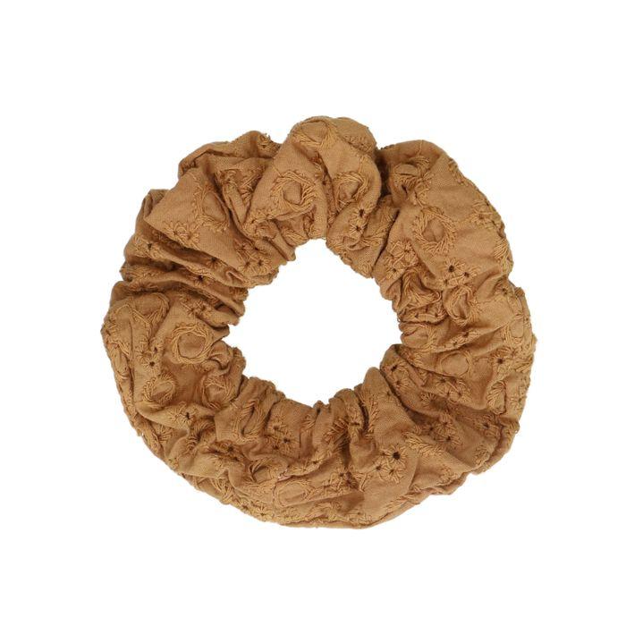 Chouchou avec imprimé - marron