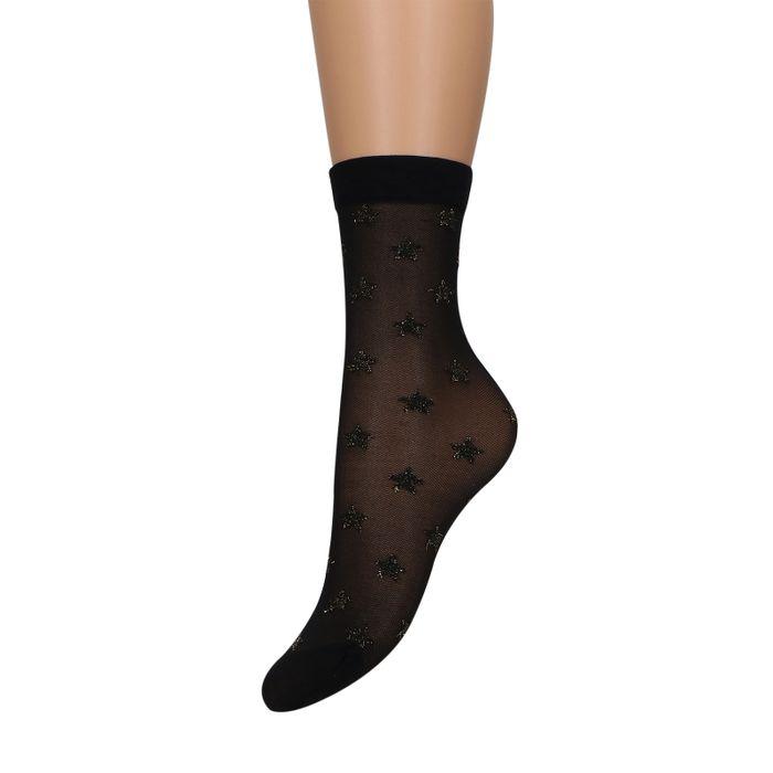 Chaussettes avec petites étoiles - noir
