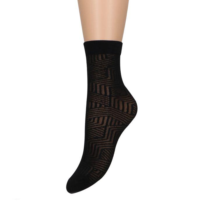 Chaussettes avec imprimé - noir