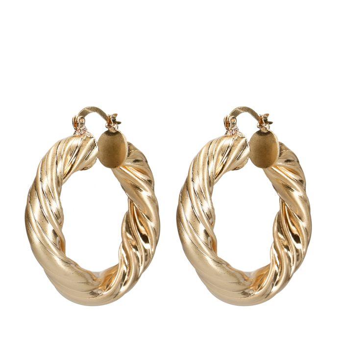 Boucles d'oreille torsadées branchées - doré