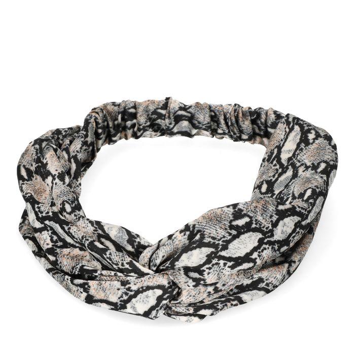 Bandeau motif peau de serpent