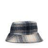 Reversible bucket hat geruit en zwart