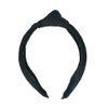 Zwarte haarband met knoop en gewoven structuur