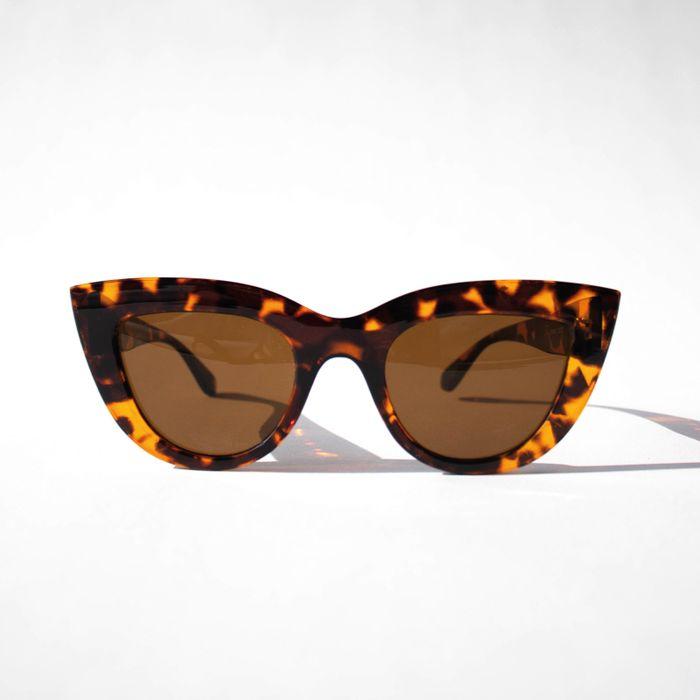 Bruine cat eye zonnebril