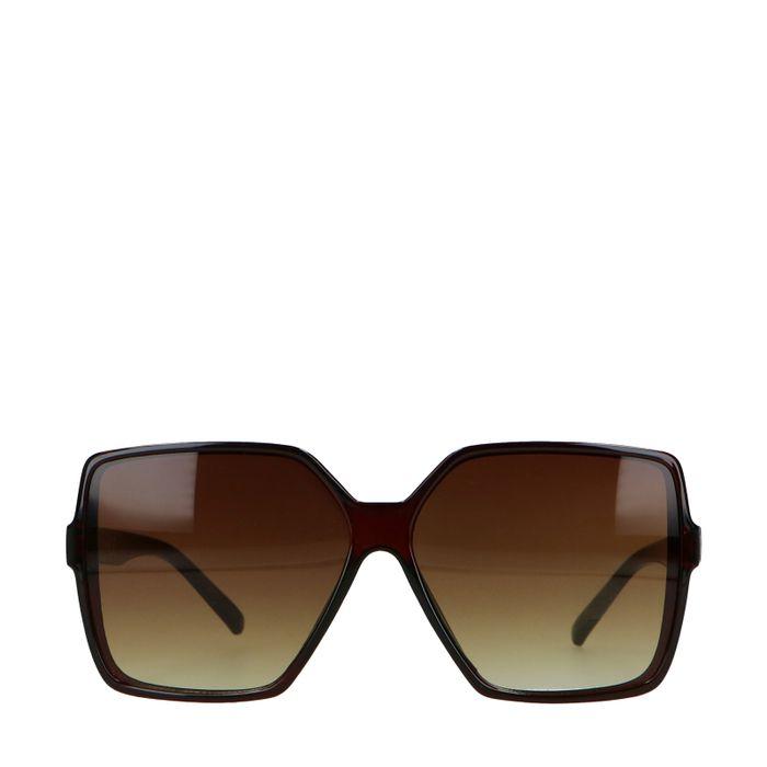 Bruine statement zonnebril