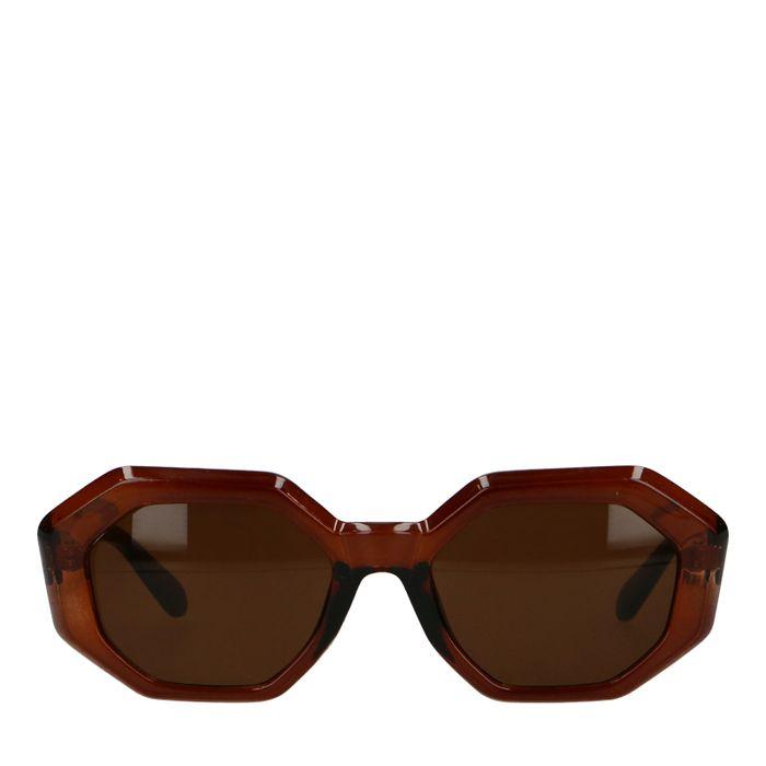 Bruine asymmetrische zonnebril
