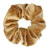Goudkleurige velvet scrunchie