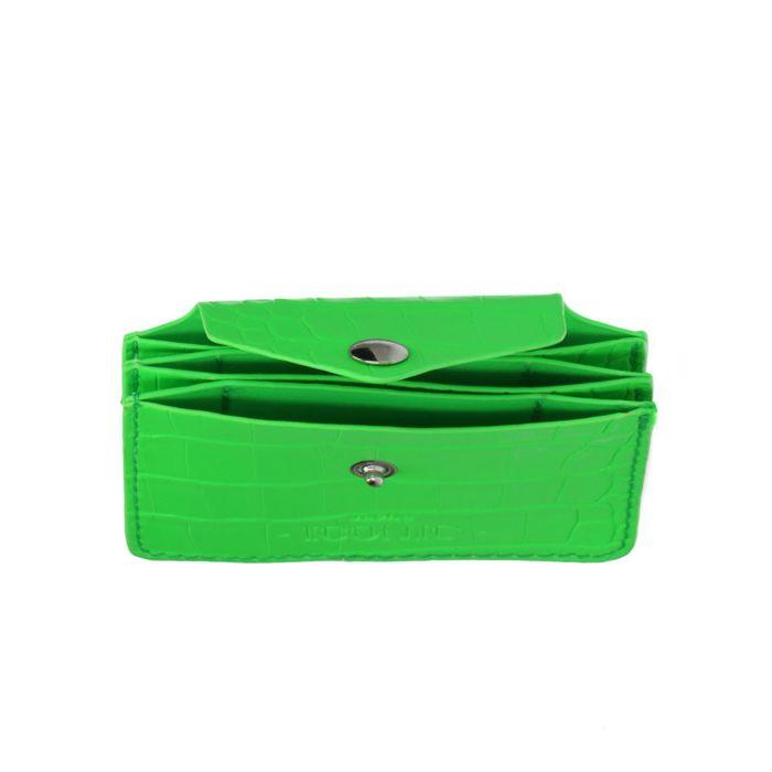 Groene portemonnee met crocoprint