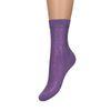 Lila glitter sokken
