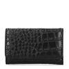 Zwarte snakeskin portemonnee