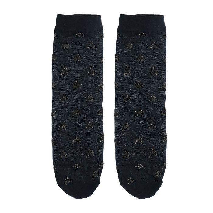 Zwarte sokjes met sterretjes
