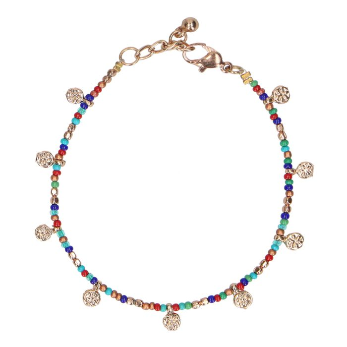 Multicolor armband met muntjes