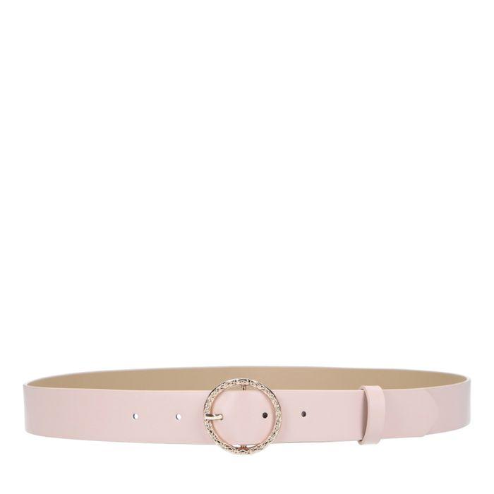 Roze riem met ronde gesp