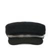 Zwarte boy cap met zilveren hardware
