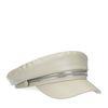 Off white boy cap met zilverkleurige hardware