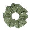 Groene scrunchie met stippen