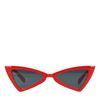 Rode cat-eye zonnebril