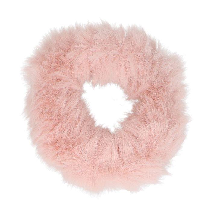Roze harige scrunchie