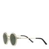 Ronde witte retro zonnebril