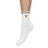 Witte sokken met pizzapunt