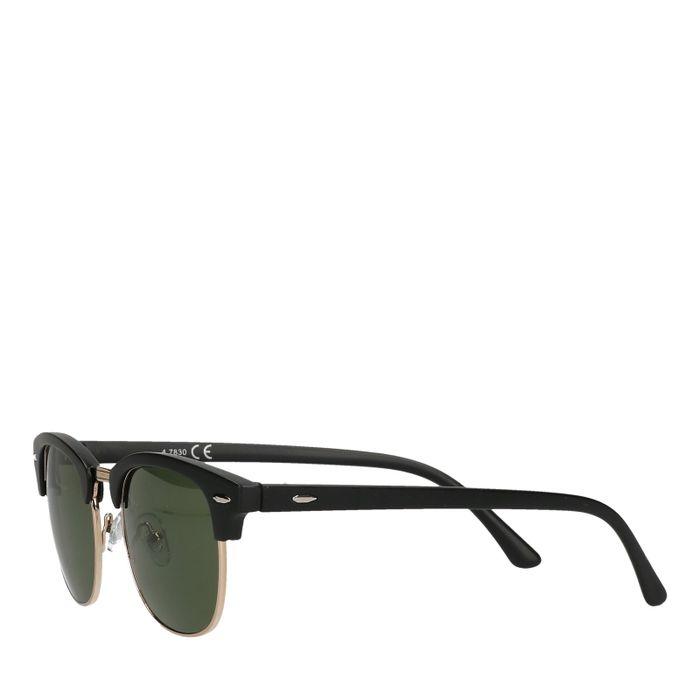 Zwarte zonnebril met groene glazen