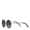 Ronde zwarte retro zonnebril