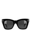 Zwarte statement zonnebril