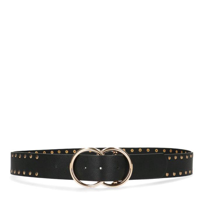 Zwarte riem met goudkleurige details