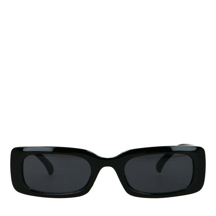 Zwarte rechthoekige zonnebril
