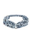 Blauwe plissé haarband met ring