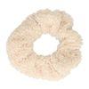Off white teddy scrunchie