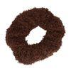 Donkerbruine teddy scrunchie