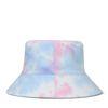 Reversible bucket hat tie-dye