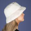 Off white teddy bucket hat